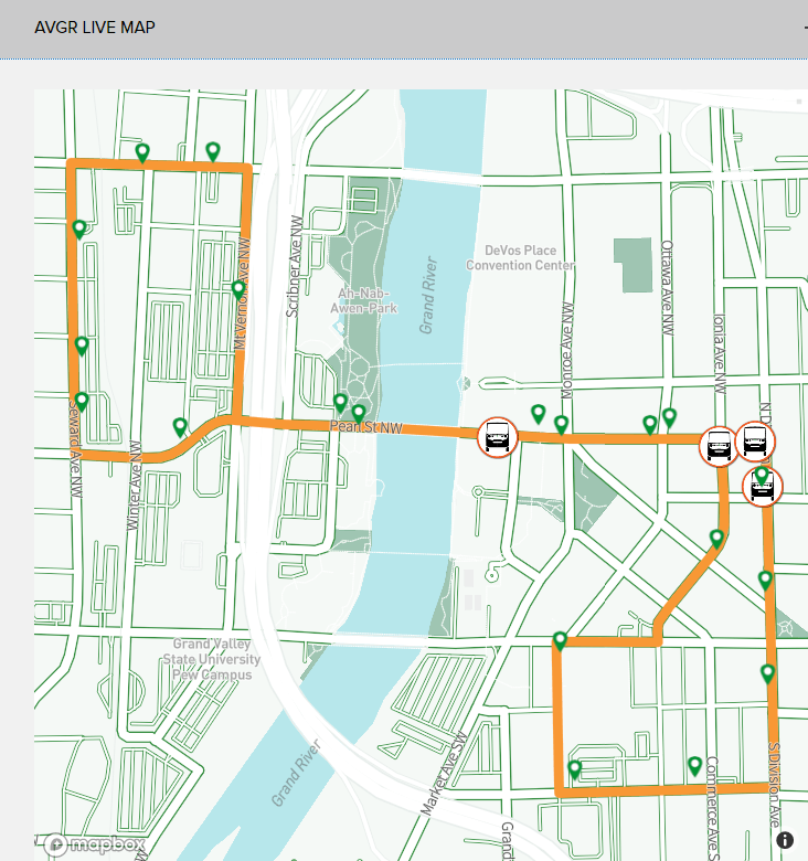 Live AV Shuttle Map