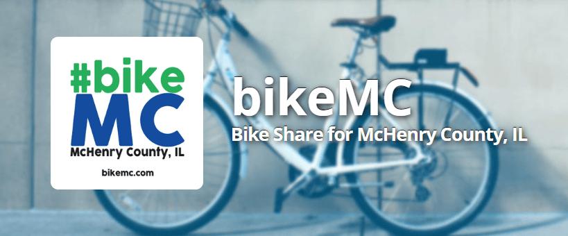 Logo for McHenry County Bikeshare Program