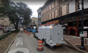 Poor street markings, parking, and construction create congestion on 20th Street North