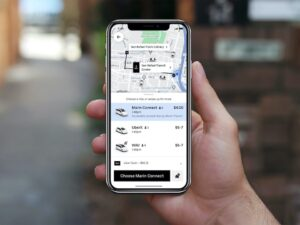 Image of Connect2Transit Options in Uber App