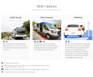 Connect2Transit ride options