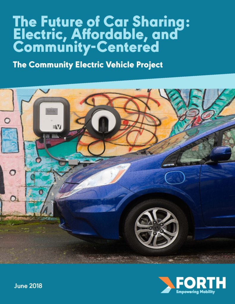 Report Cover: The Future of Car Sharing: Electric, Affordable, and Community-Centered