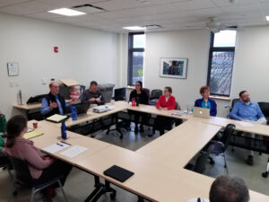Photo of VTrans presentation to advocacy group