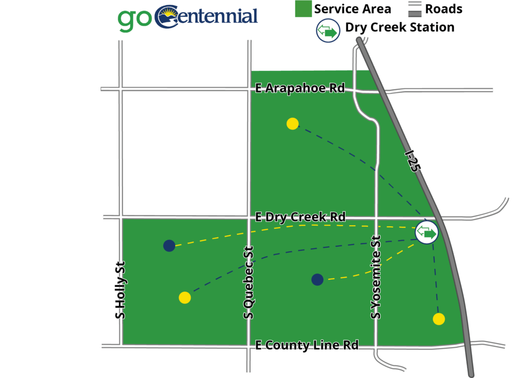 Map Go Centennial Service Area