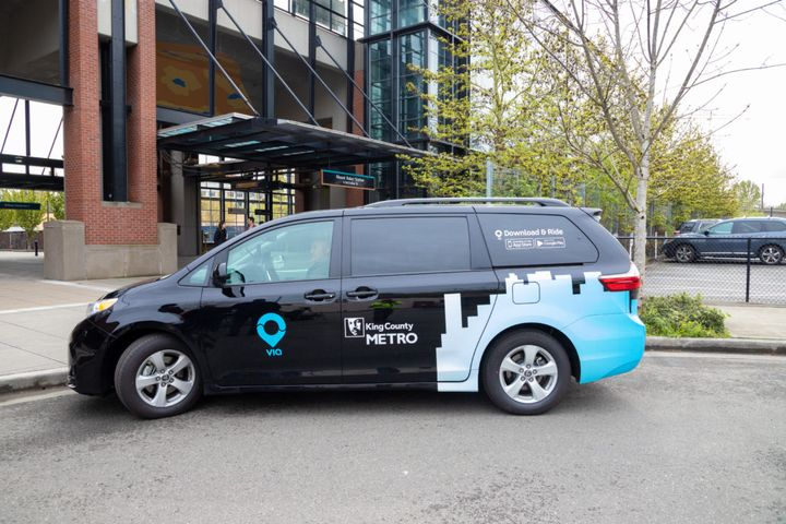 Picture of King County Metro Via to Transit vehicle