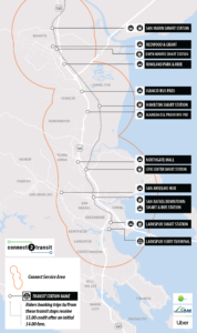 Marin Transit Connect Service Area as of February 3, 2020