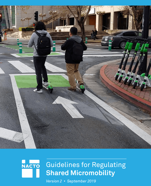 NACTO Report Cover Regulating Shared Micromobility