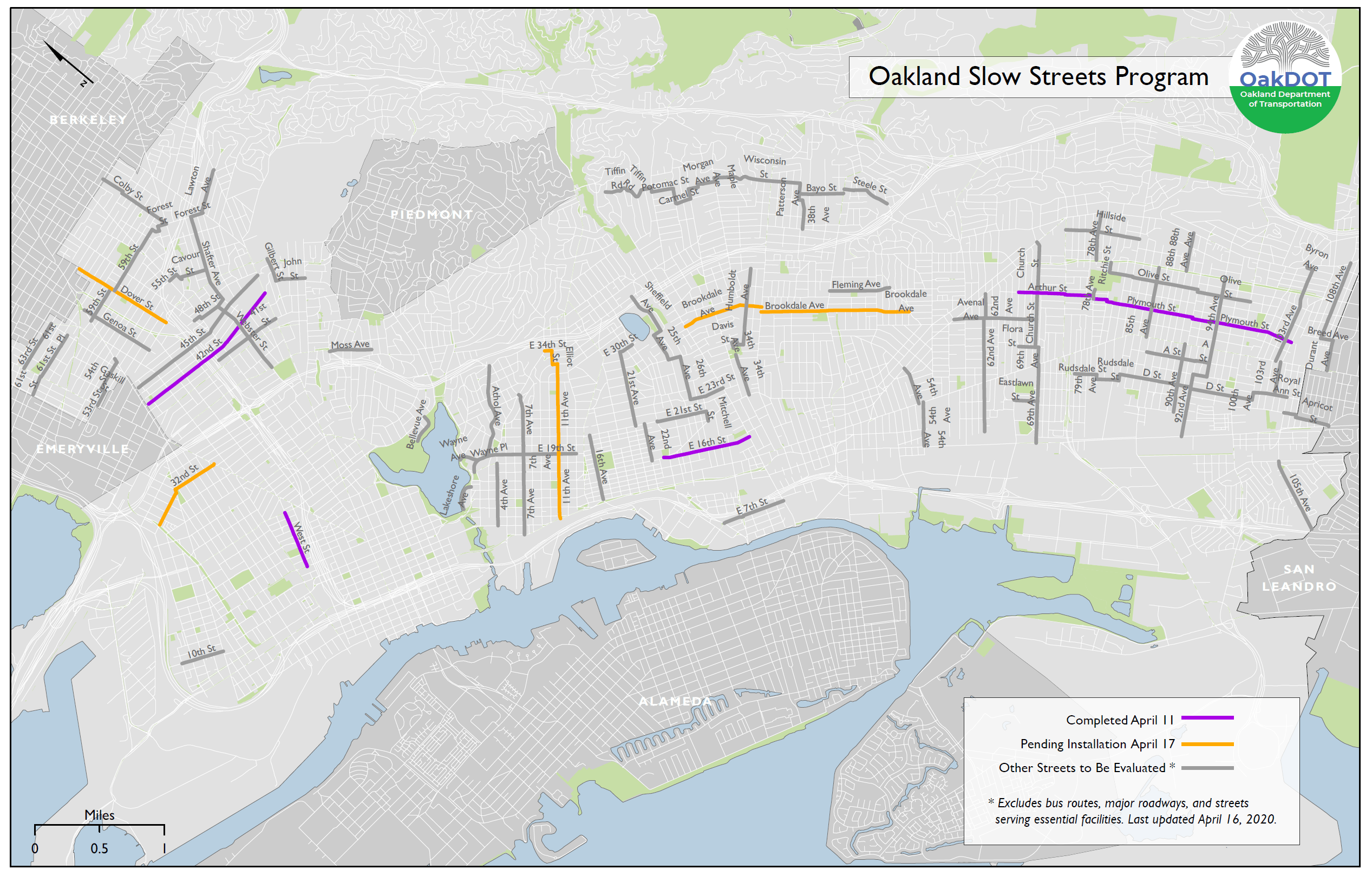 Map of street slow zones.