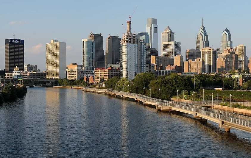 Philadelphia from the South Street Bridge