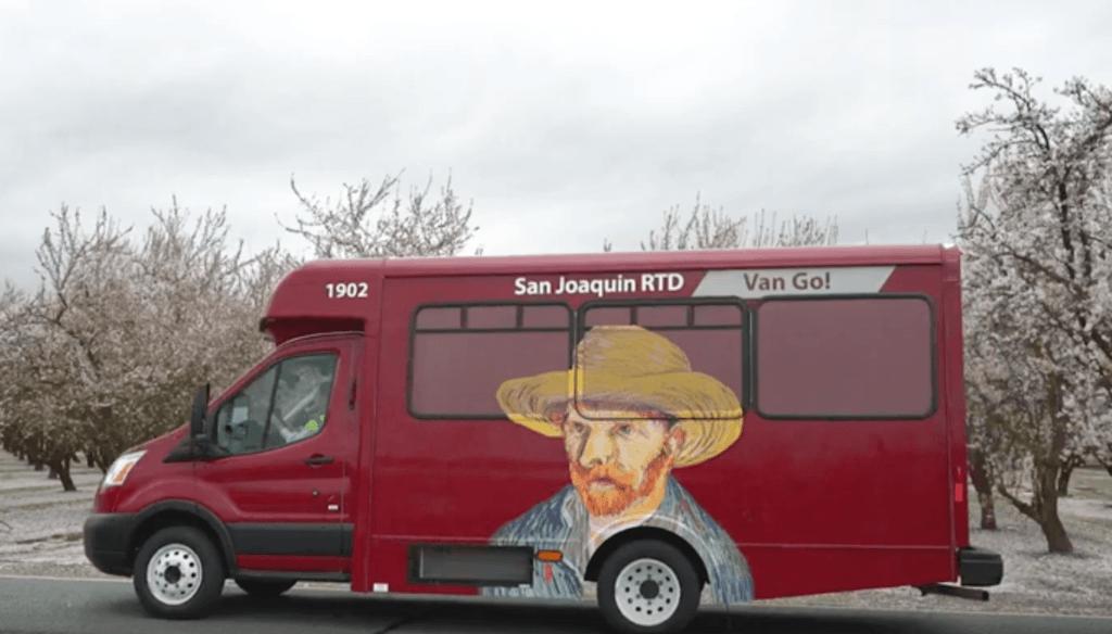 Photo of the RTD paratransit van.