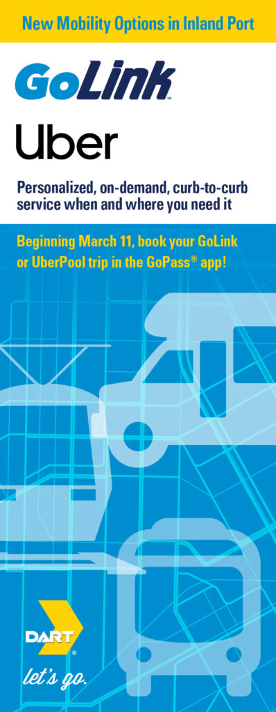 Cover of flyer for GoLink and Uber service.