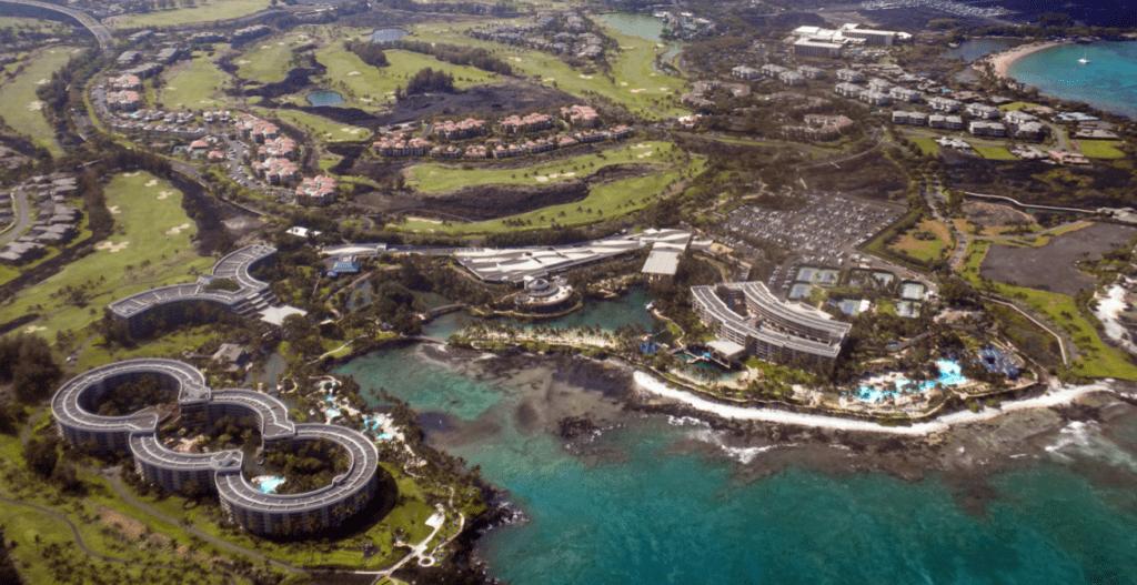 Aerial photo of hawaii island