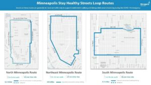 Map of Minneapolis street closures due to COVID