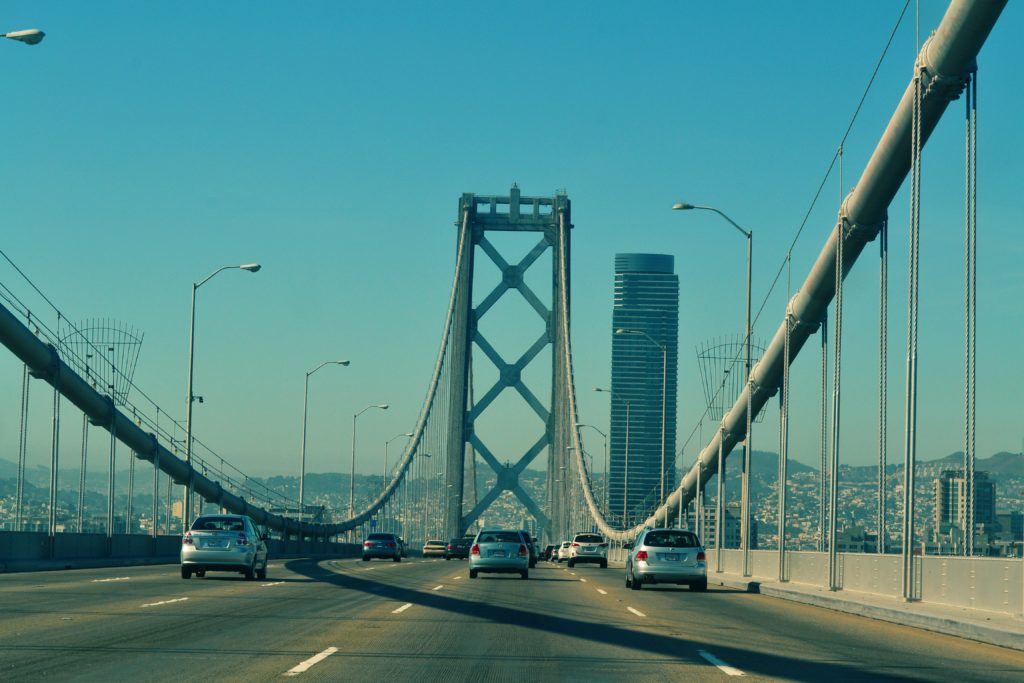 Photo of Oakland Bridge - from being on the bridge perspective