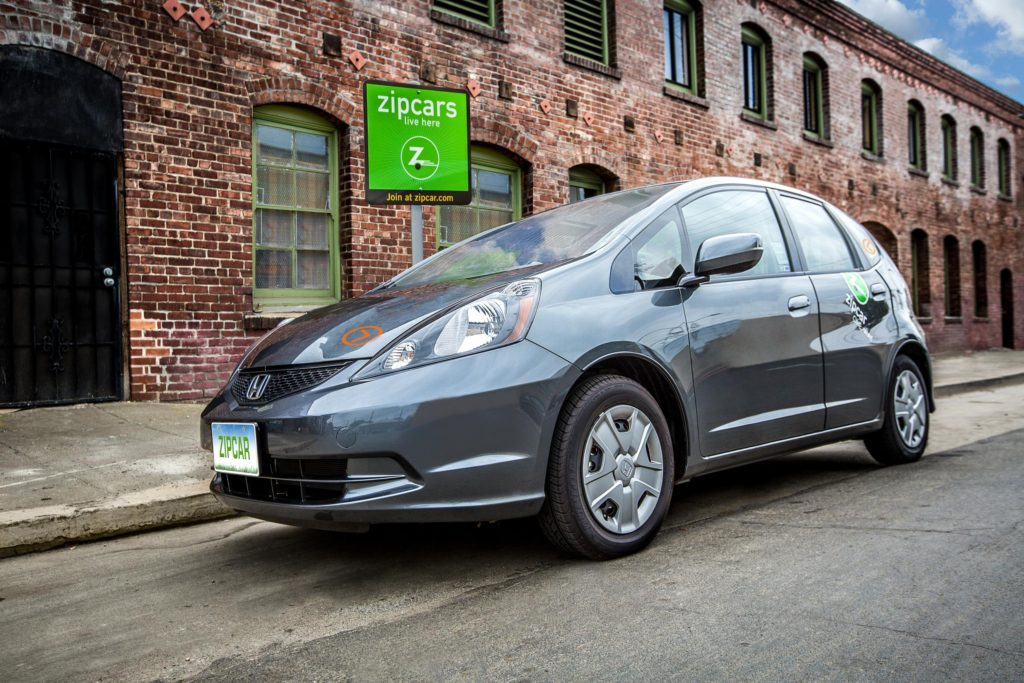 A Photo of a Zipcar car